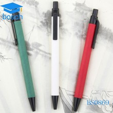 High quality recycle Low price plastic paper pen with full color printing