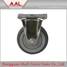 4 inch fixed wheel Castor for Industrial Trolley Solid Rubber Wheel For Wheel Barrow