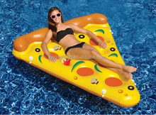 Summer hottest water floating pizza for adults and kids fun inflatable pool pizza raft
