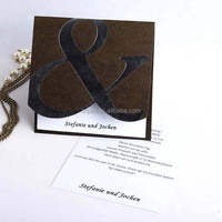 Fashion Brown And Silver Symbol Letterpress Romantic Marathi Wedding Card Matter
