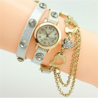2015 New Fashion Leather Hand Chain Wrist watch ladies watch wholesale