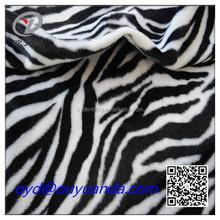 100% polyester animal skin printed velboa velvet fabric