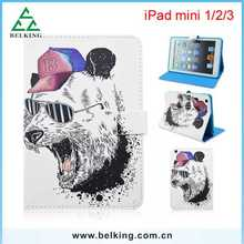 Book Fold Magnetic PU For iPad mini Foldable Kickstand Stander Leather Cases Cover Tablet