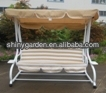 3 seat steel functional patio swing bed adult garden swing chair