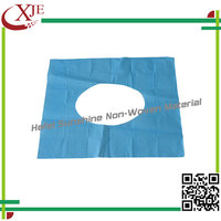Best Perfermance Hygienic Waterproof Disposable Toilet Seat Cover Fabric