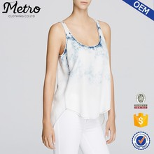 2015 OEM Manufacturer Customized high quality plus size Tie Dye Women Tank tops