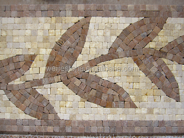 Travertine Stone Border : Handmade marble mosaic pattern wall borders travertine