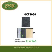 Top Design Custom PU Leather Felt Notebook Cover -HKF1036