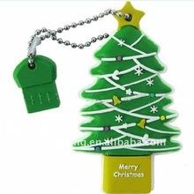 2011 christmas gifts silicone cartoon USB drive