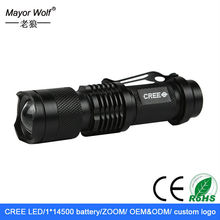 super bright zoomable rechargeable mini led flashlight for bike