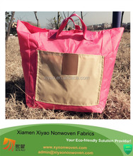 Natural School Lunch Bag Picnic Tote Shoulder Bag foldable shopping tote