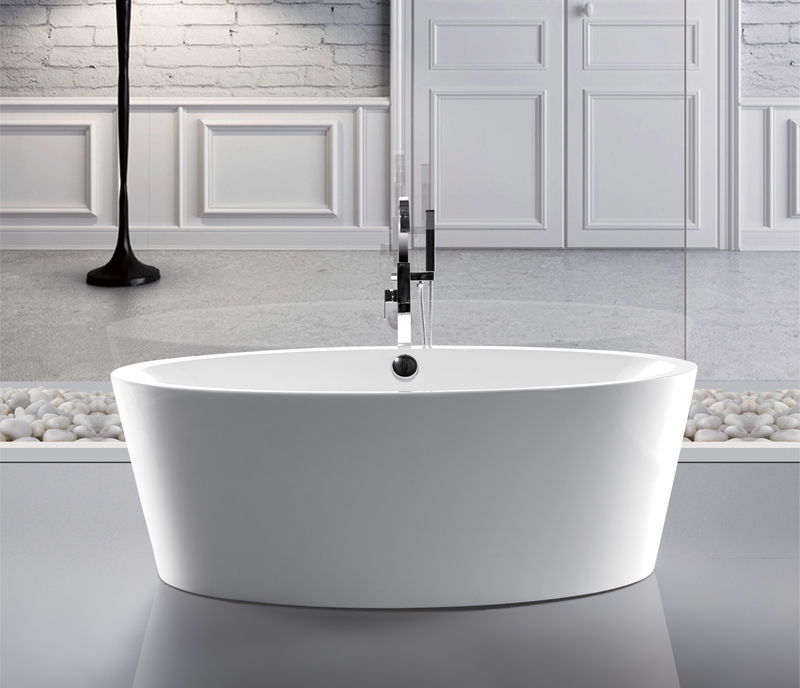 Indoor cheap freestanding bath tub buy bath tub for Cheap free standing tubs
