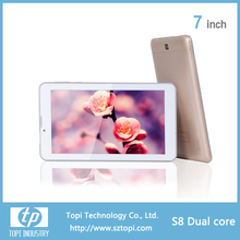 2G 3000mah battery android dual core tablet pc with mtk 8312 chip