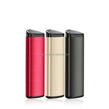 lipstick aluminium external battery power bank portable charger 2000~2600mAh capacity