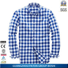 Men Check Casual Shirt Of Blue And White Strips Of Factory Price