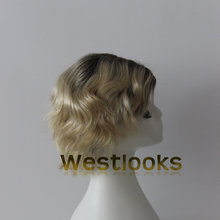 Top Grade 100% Real European Hair Blonde Dark Rooted Jewish Wigs