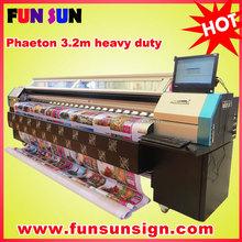 Phaeton UD-3208Q 3.2m outdoor banner wide format inkjet printer (SPT510/35pl ,8 head ,high speed)