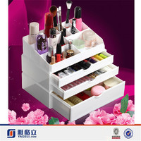 China glold supplier beautiful design hot sale acrylic necklace display stand/acrylic desk organizer