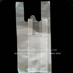 Clear embossed plastic T-shirt bag, embossed face plastic bag