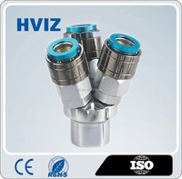 HVIZ china manufactuer self-lock female/male pneumatic 2 way/3way nitto quick fitting