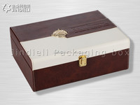 Engraved leather wine box