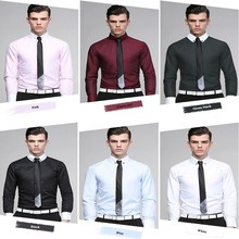 new 2016 high quality fashion dress special design long sleeve shirts for men
