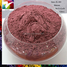 Maroon ceramic glaze pigment for Ceramic, floor tile and wall tile with free samples