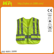 high visibility summer wholesale orange Safety Vest reflective hi vis worker dress meets EN471