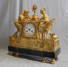 brass thinking lady clock