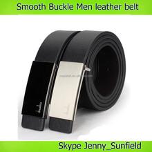 Smooth Buckle Men belt leather belt multi colors