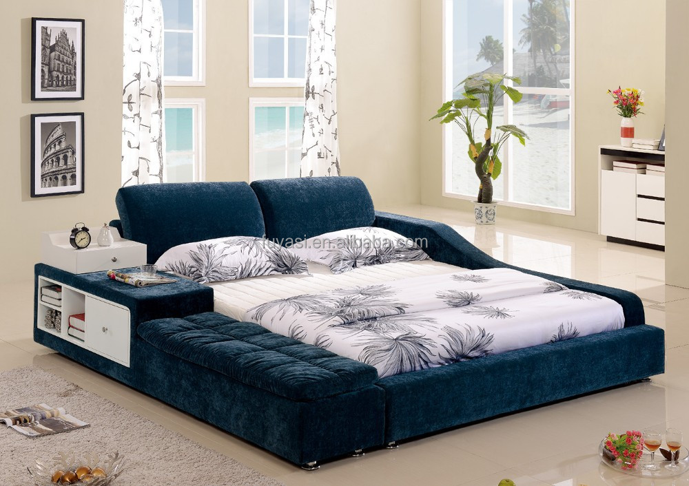 Drawer bed modern bedroom furniture king size bed night for Bedroom set and mattress