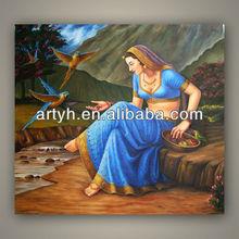Modern Handmade Classical painting framed Indian Oil Painting Seller