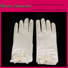 Factory wholesale new arrval wedding fingerless flower gloves for bride ,custom bridal gloves