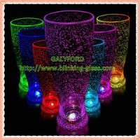 2015 hot sale colorful plastic decorative flashing bubble wine cup/glass