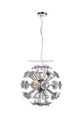 Unique crystal plate chandelier pendant light decoration home/hotel room