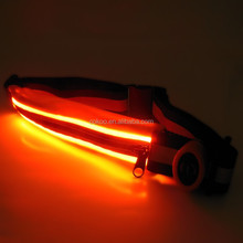 cheapest most popular fashion led bag travelling led bag for sporting and hip pack with zipper
