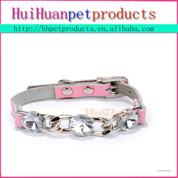 New arrival real leather flashing dog collar