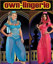 Vestido de baile árabe azul atractiva para el adulto