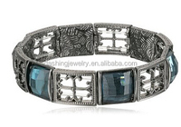 high quality stainless steel Gothic Cross Stretch Bracelet