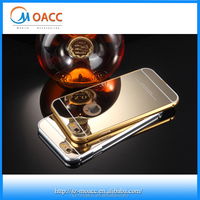 Wholesale alibaba for iphone 6 bumper case,Gold aluminum mobile phone case,for iphone 6 metal bumper mirror case