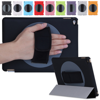 Special design rotating 360 degree For iPad Air 2 Case With Handle smart case factory price