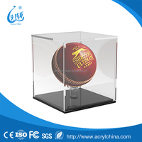 clear plexiglass Cricket Ball Display Case