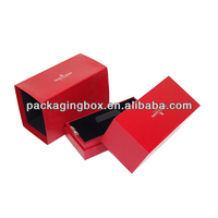 Red Customized Logo Printing Paper Essential Oil Packaging Box With EVA Tray