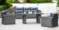 living room sofa,garden treasures outdoor furniture, gray rattan sofa furniture with dining table
