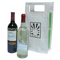 Jute Double Wine Tote Bag
