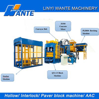 QT4-15 Fully Automatic Color Fly Ash Cement/Concrete Brick Block Making Machine Price