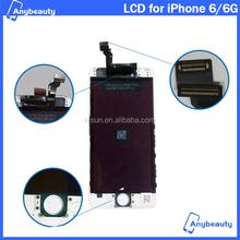 Completo probado por mayor precio bajo Original LCD con marco para el IPHONE 6 LCD montaje