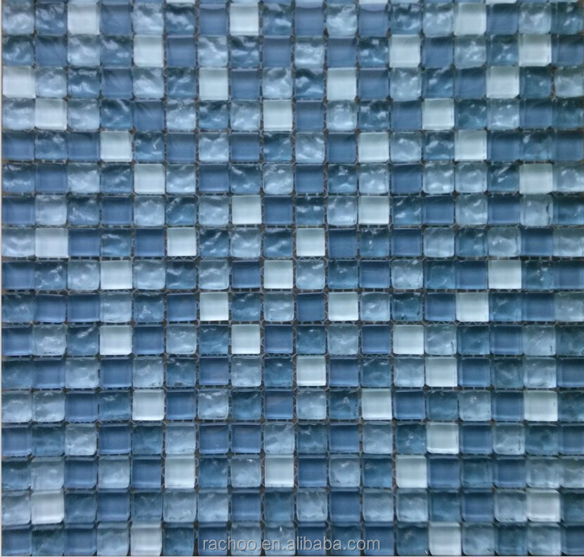 classical design 15 15mm size cheap glass mosaic tile wall