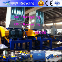 Plastic crusher and washing film plastic machine for recycling line