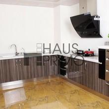casa contemporánea de acero inoxidable muebles de cocina